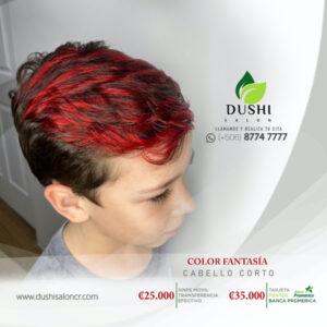 Bloques de color fantasia para cabello corto