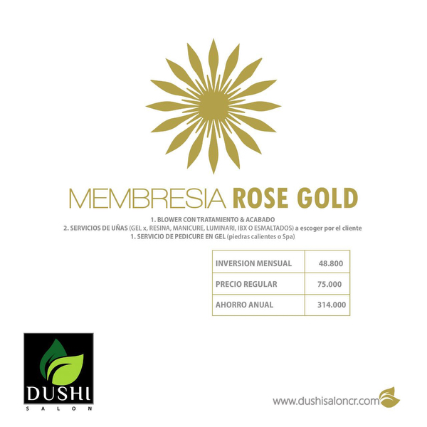 Membresia Rose Gold